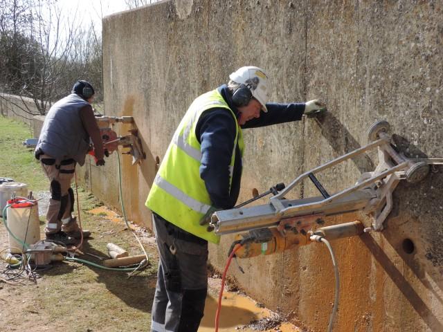 Drilling in progress (Steve Brayshaw)