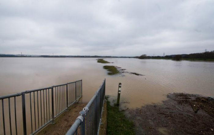 Clifford Hill GP's main barrage lake, 10th March 2016 (John Nicholls)